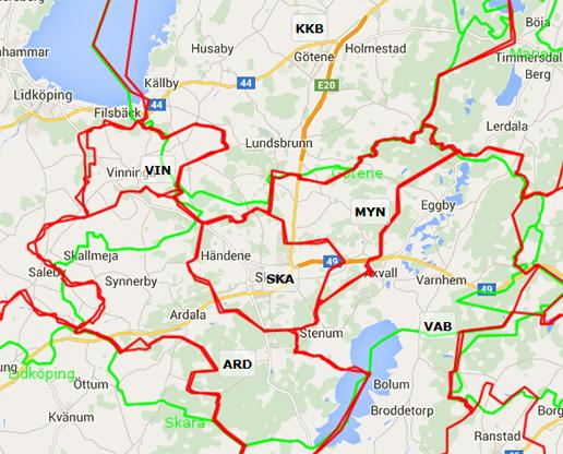 karta skara Elnät   Skara kommun karta skara